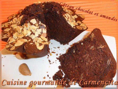 Gâteau aux blancs d'oeufs chocolatet amandes