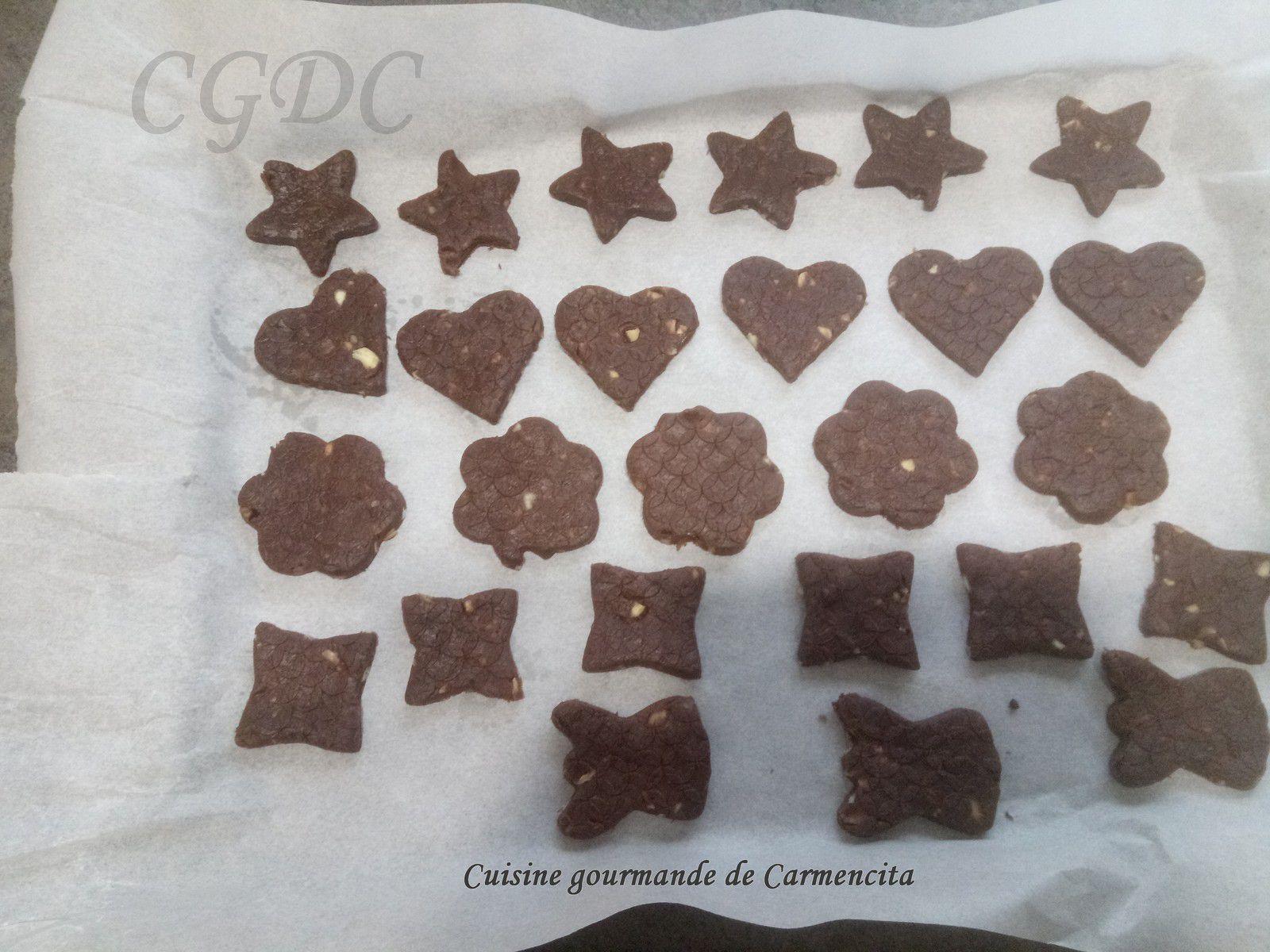 Biscuits de Noël chocolat amandes
