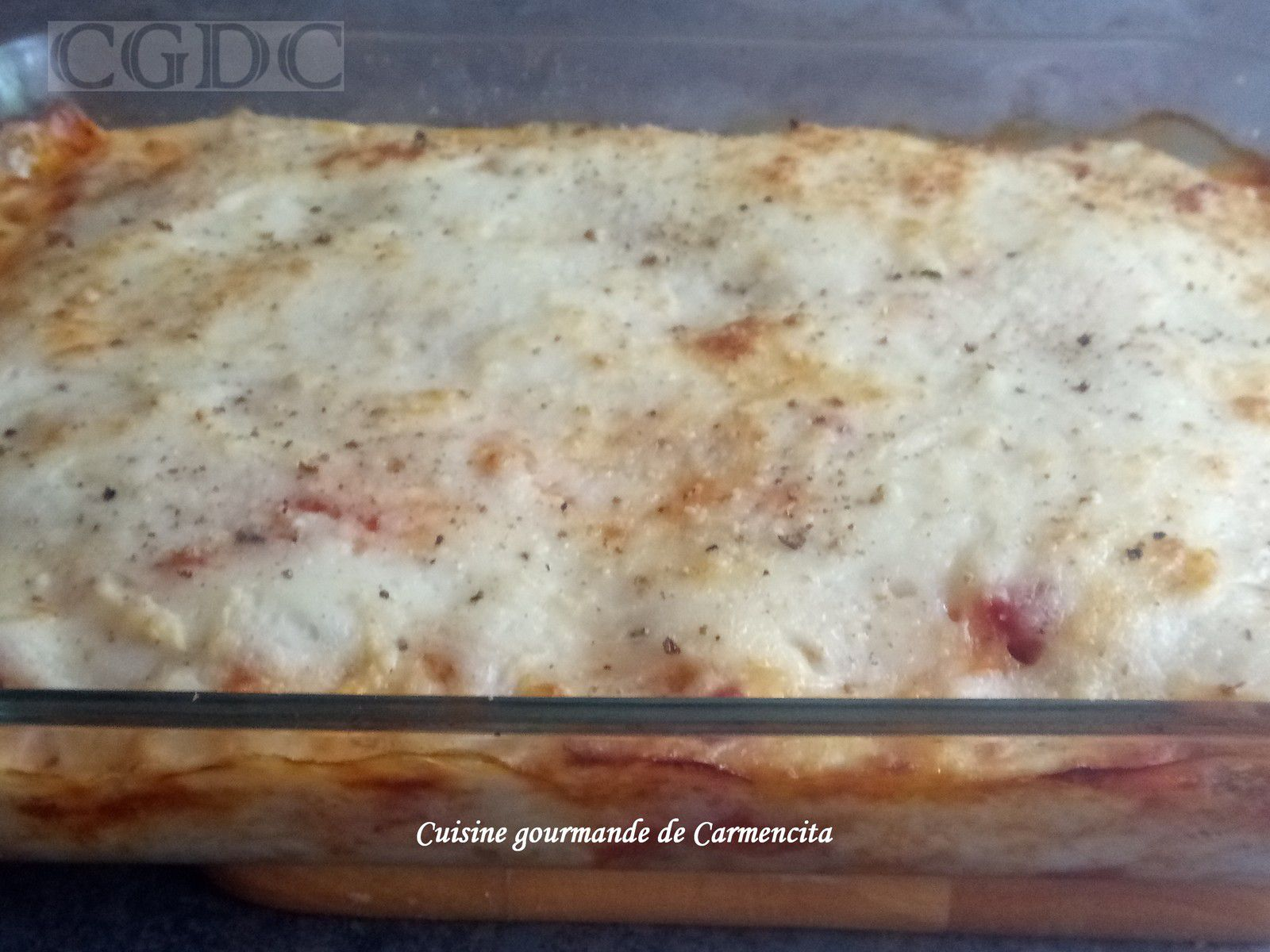Lasagnes aux deux viandes sauce tomate et béchamel au parmesan