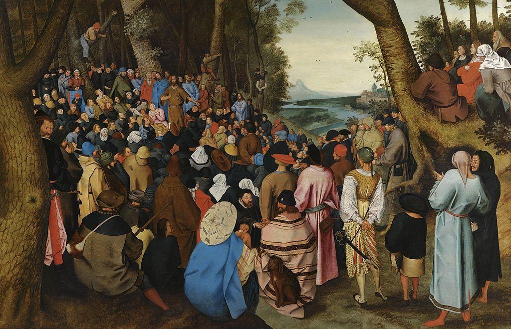 Brueghel l'Ancien – La Prédication de Saint Jean-Baptiste, 16e ou 17e siècle.