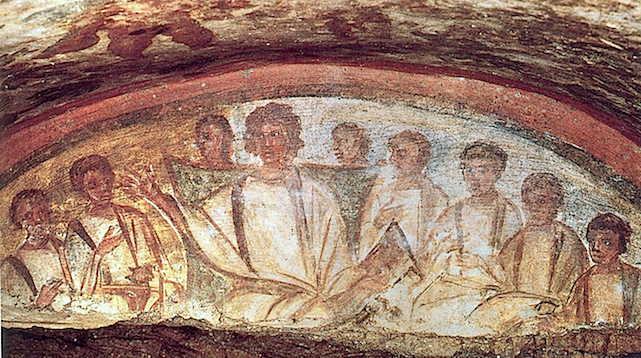 Jésus enseignant, Catacombe, Rome vers IVe siècle