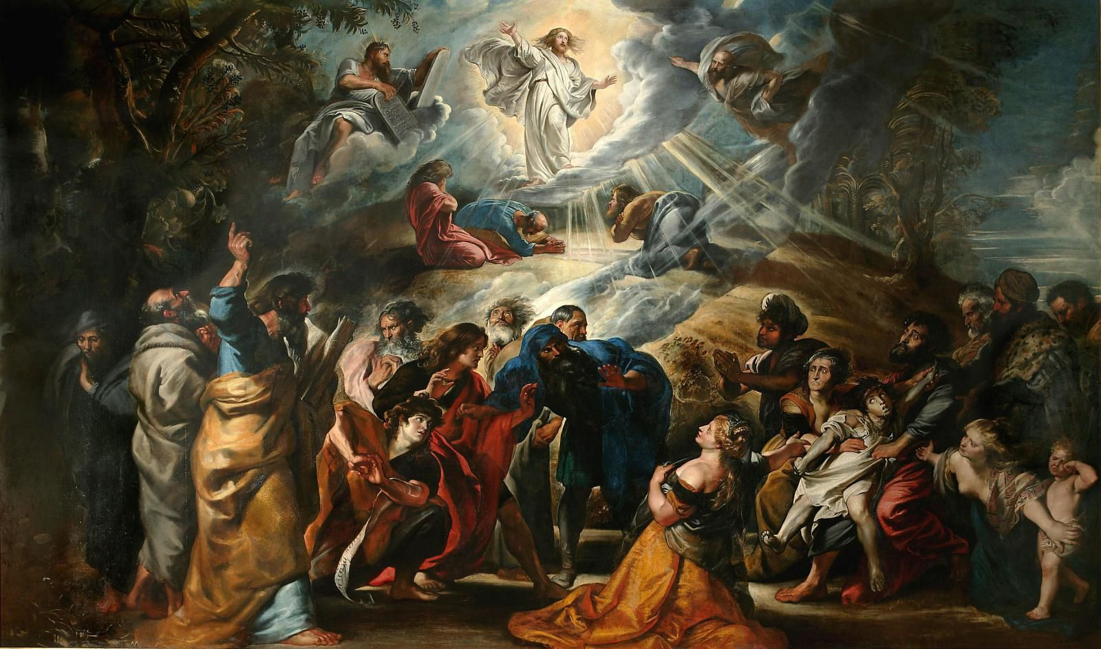 Pierre-Paul Rubens,Siegen, 1577 ~ Anvers, 1640, La Transfiguration, 1605, Huile sur toile, H. 407 ~ L. 670 cm