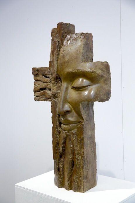 Biennale d'art sacré actuel. Profond retournement, Lyon église St-André, octobre - novembre 2017. Œuvre de Barbara Soïa