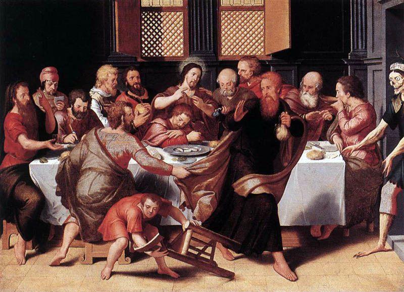 Pieter Pourbus. La dernière Cène. 1548. Bruges. Groningue Museum.