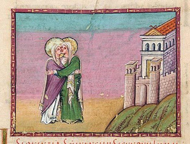 image du Xe siècle, évangéliaire d'Egbert de Trêves.