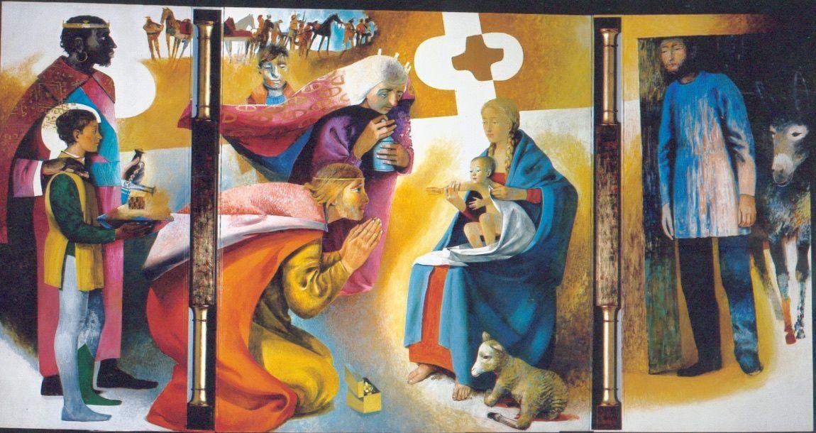 Arcabas, Visite des mages d'orient, église Notre-Dame de l'Assomption, La Tour-du-Pin