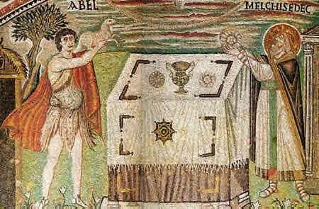 Offrande d'Abel, Tu es prêtre pour l'éternité à la manière des Melchisédech (Heb. 7, 11-17), Ravenne