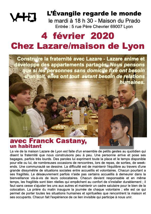 La vie de la maison Lazare de Lyon est faite d'un ensemble de gestes au quotidien qui disent la fraternité que nous construisons peu à peu.