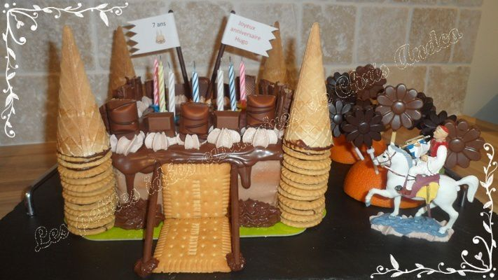 Layer cake kinder version château fort