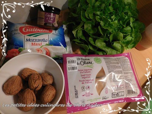 Salade de toasts sans gluten à la cèpenade & ail rose