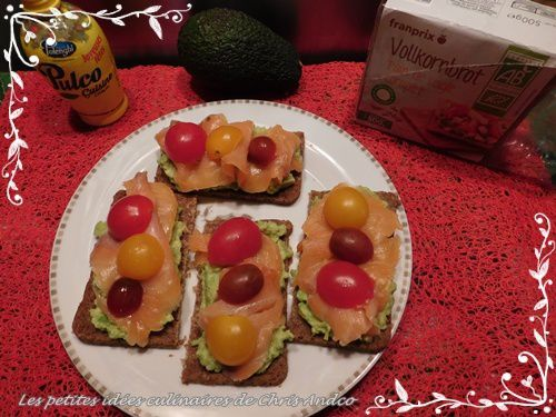 Tartines avocat et saumon
