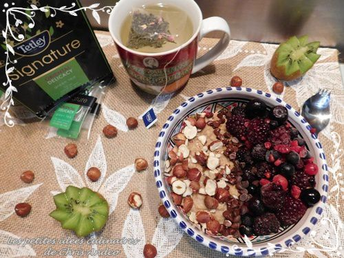 Porridge noisette et fruits rouges