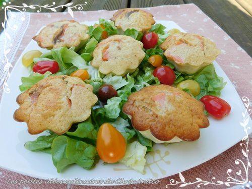 Muffins saumon fumé et chèvre frais omnicuiseur