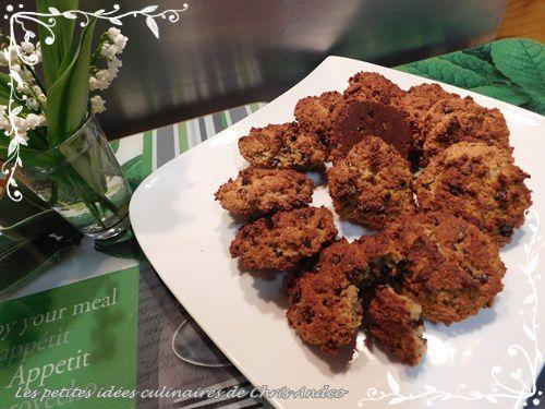 Cookies amande et pépites de chocolat healthy igbas