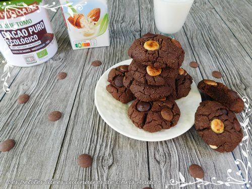 Cookies vegan 3 chocolats