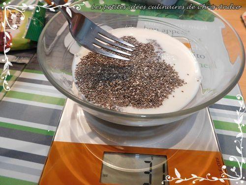 Pudding de chia et abricot