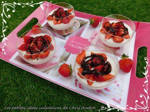 Mousse ultra légère au citron & fraises