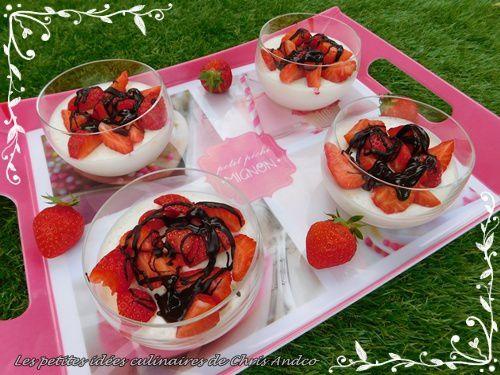 mousse ultra légère citron et fraises