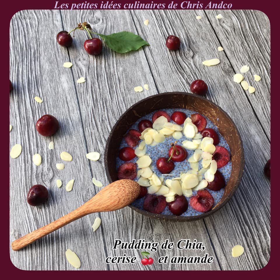 Pudding graines de Chia cerise et amande