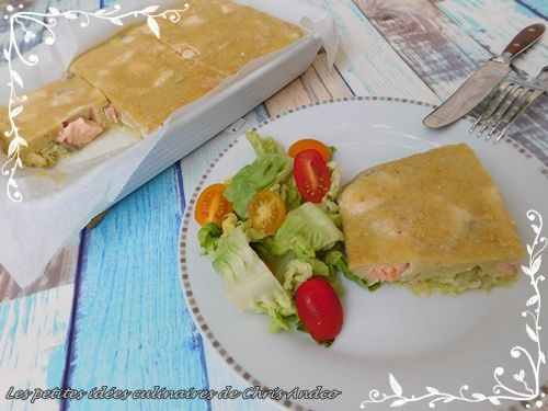 Quiche sans pâte courgette et saumon frais