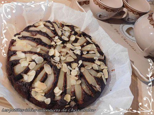 Gâteau amande, poire & chocolat