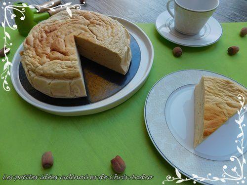 Cheesecake allégé aromatisé à la noisette