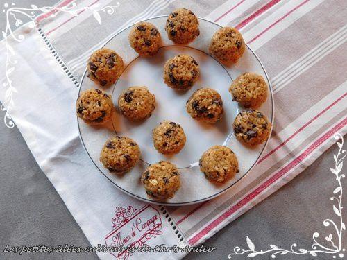 Bouchées de cookies avoine & chocolat