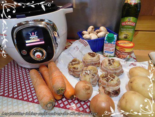 Paupiettes de poulet aux petits légumes