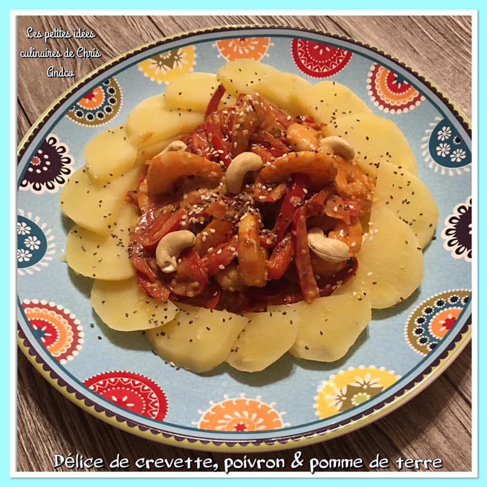 délice de crevettes, poivron et pomme de terre