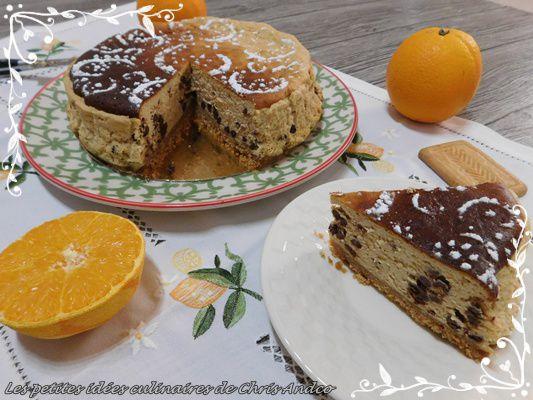 Cheesecake léger orange & chocolat