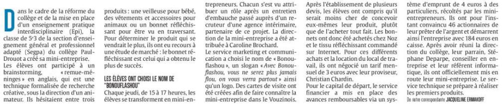 Les mini-entrepreneurs de Vouziers