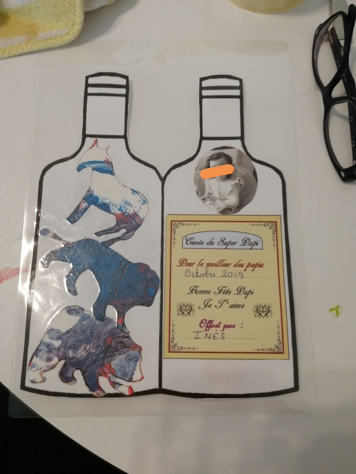 Une bouteille pour Papy