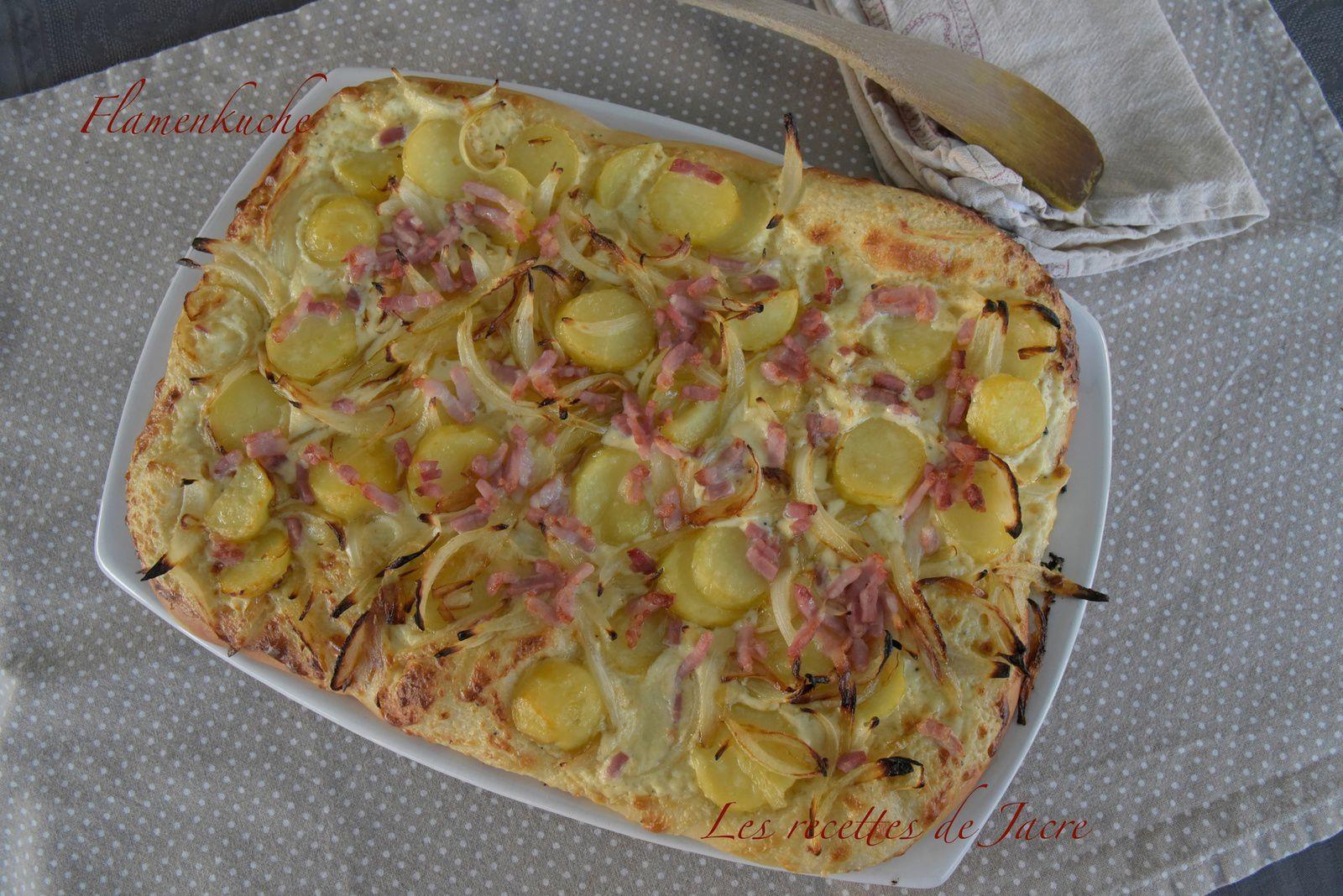 Flamenkuche aux pommes de terre