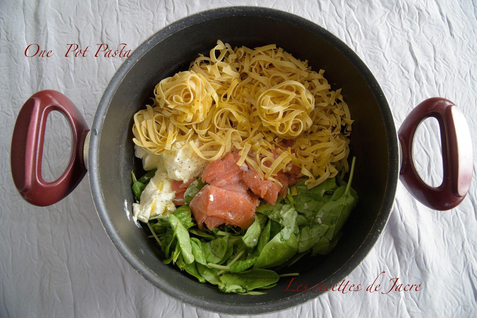 One Pot Pasta / Epinards et saumon fumé