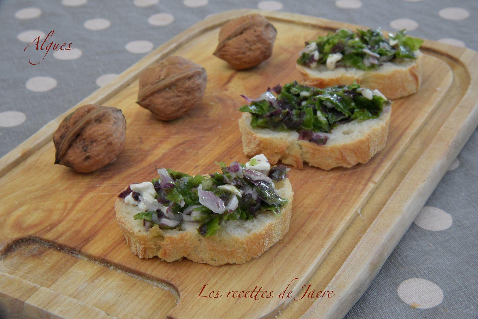 Tartare d'algues et noix fraîches