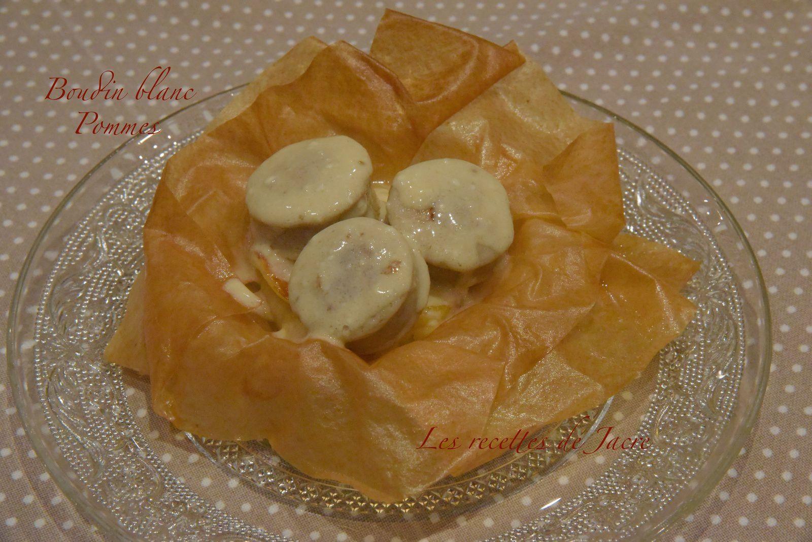 Boudin blanc et pommes en corolle de filo