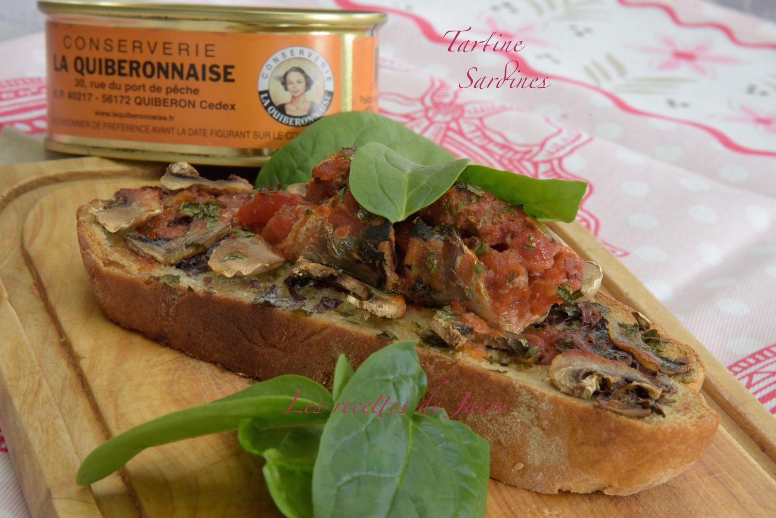 Tartine sardine roul e et beurre d 39 algues les recettes de jacre en toute simplicit - Sardines au four sans odeur ...