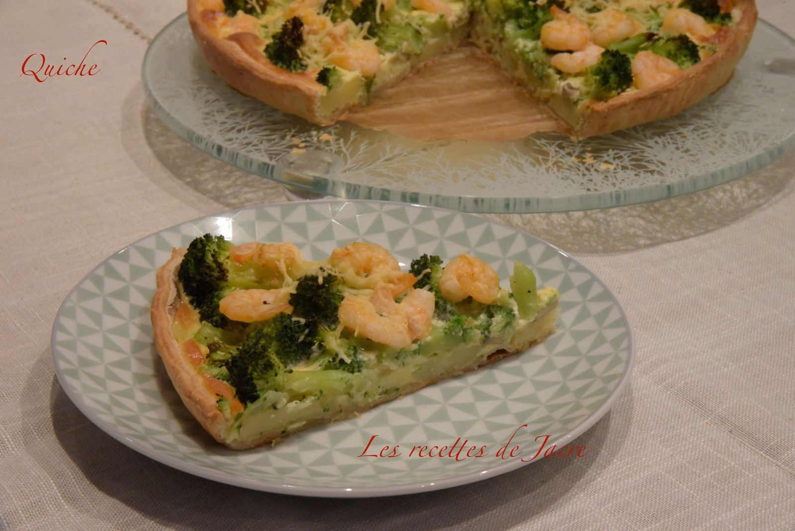 Quiche brocolis/crevettes