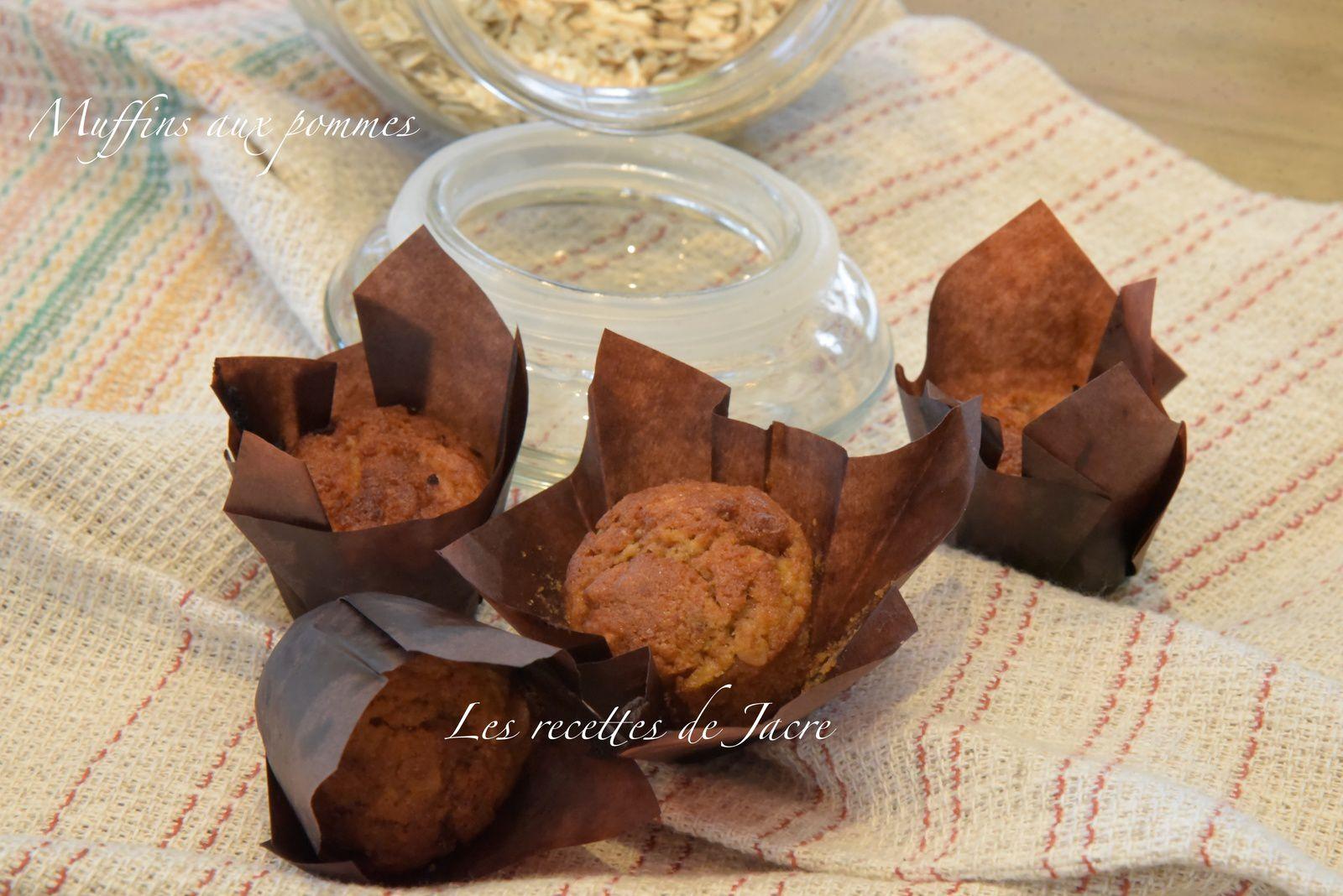 muffins aux pommes râpées et flocons d'avoine