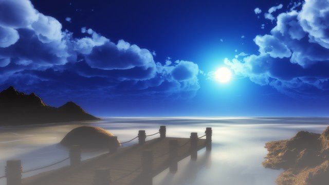 Plage - Nuit - Lune - Wallpapers Free