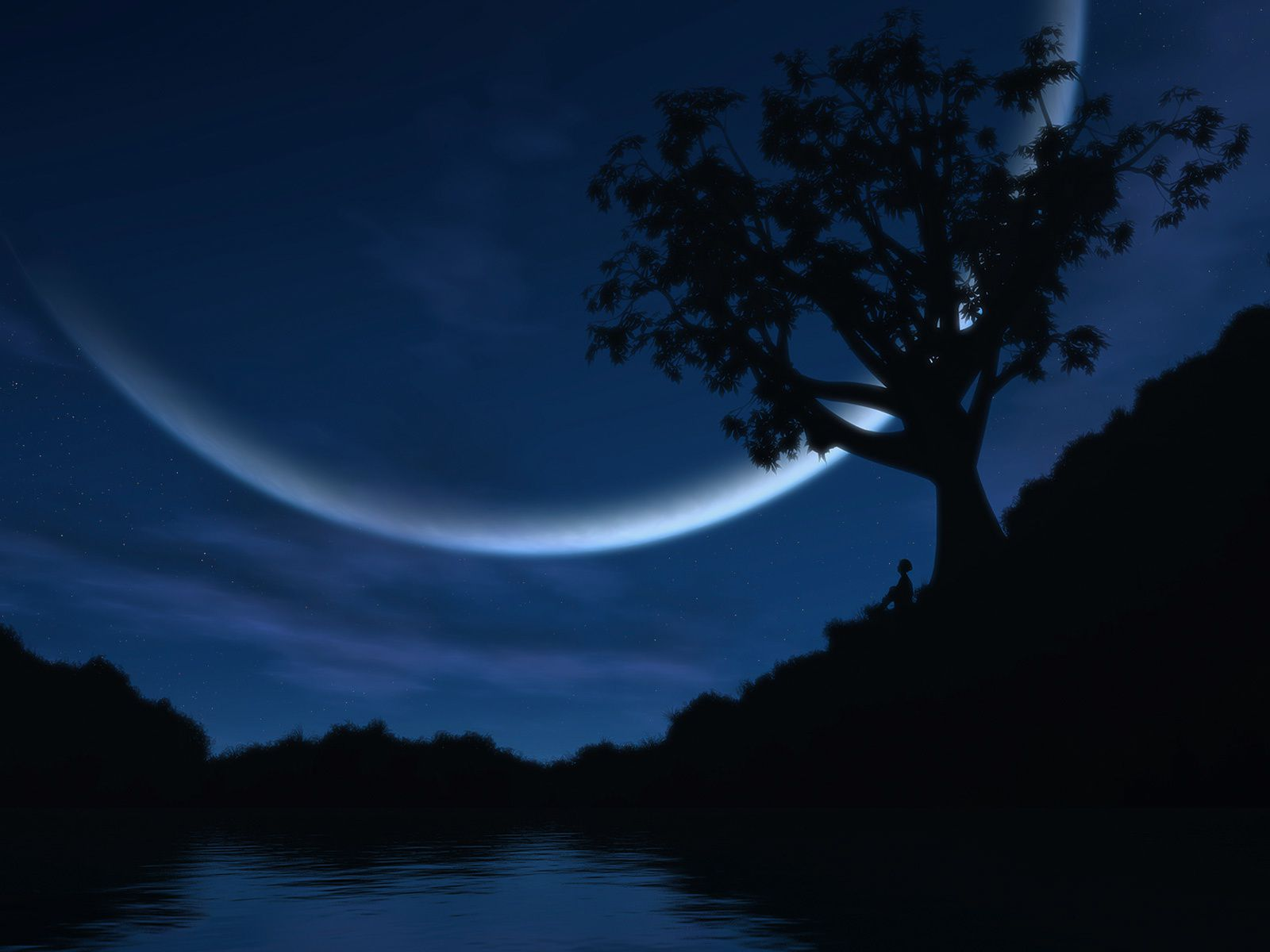 Lune - Nuit - Wallpapers - Free
