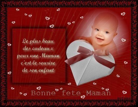 Le plus beau cadeau pour une maman c'est le sourire de son enfant - Bonne fête maman
