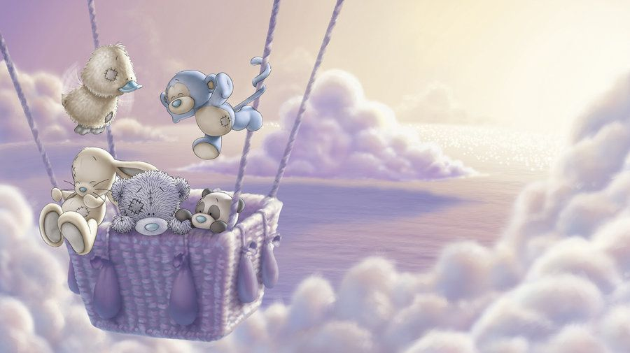 Tatty Teddy - Oursons - Montgolfière - Nuage - Wallpaper - Free