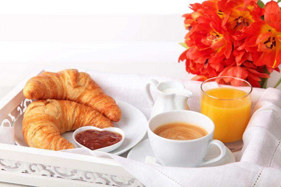 Breakfast - Croissants - Café - Jus d'orange - Fleurs - Wallpapers