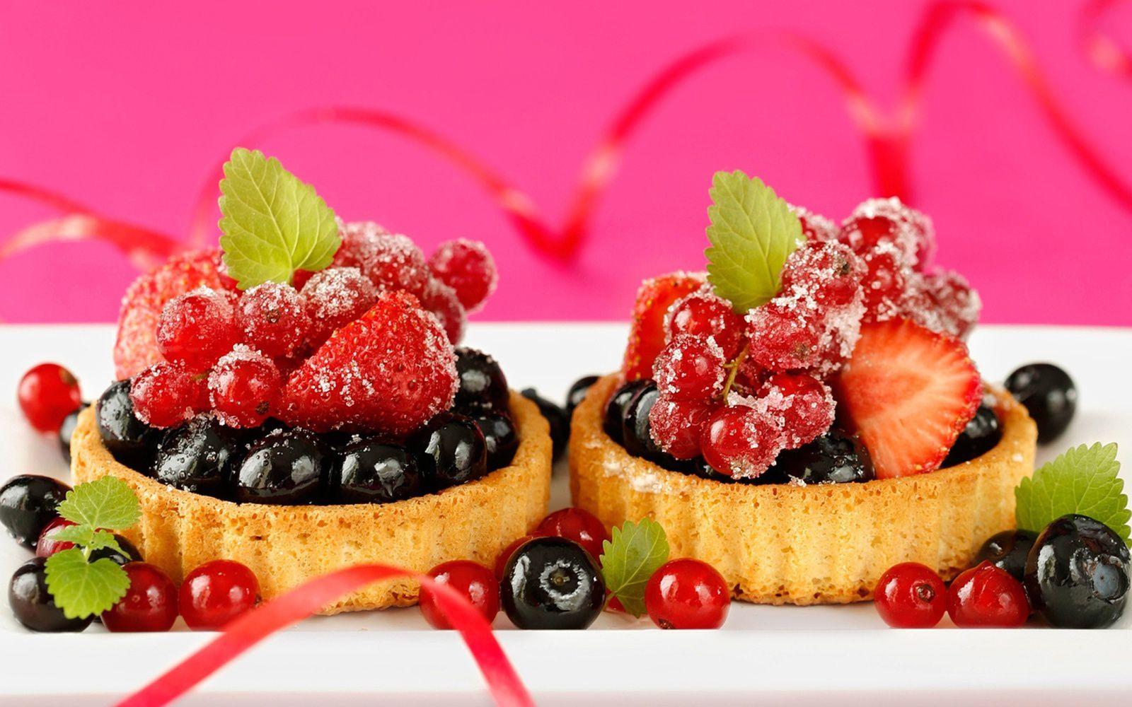 Tartelettes - Fruits - Fraises - Gourmandises - Wallpapers - HD