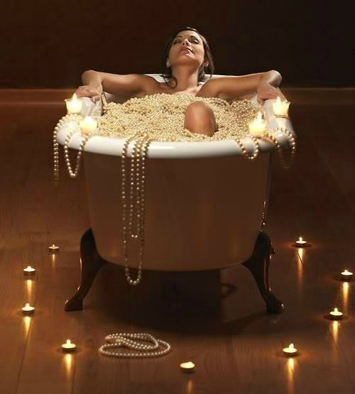 Bain - Femme - Perles - Pictures - Free