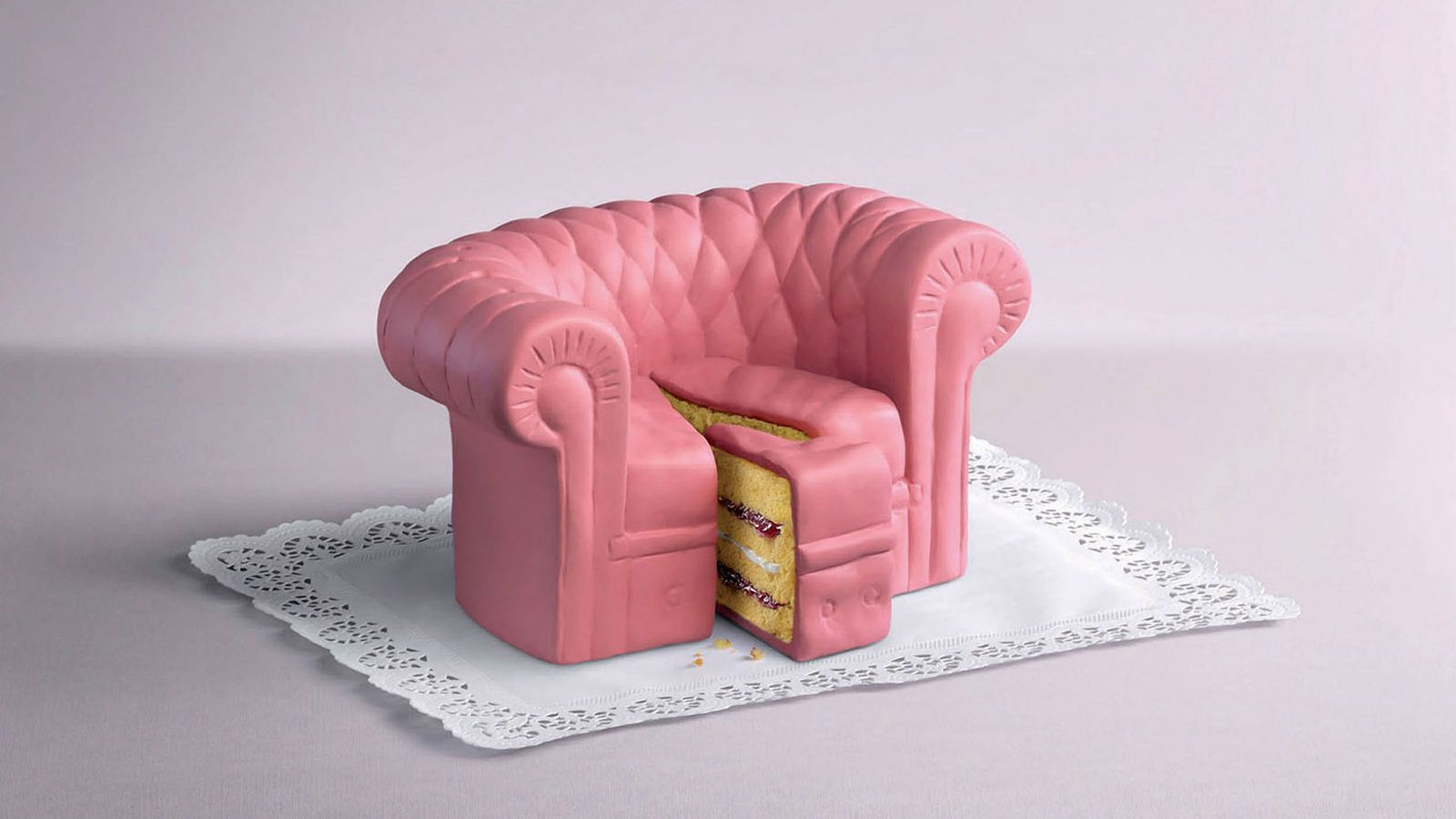 Dessert - Cakes - Création - Canapé rose - Wallpapers - Free