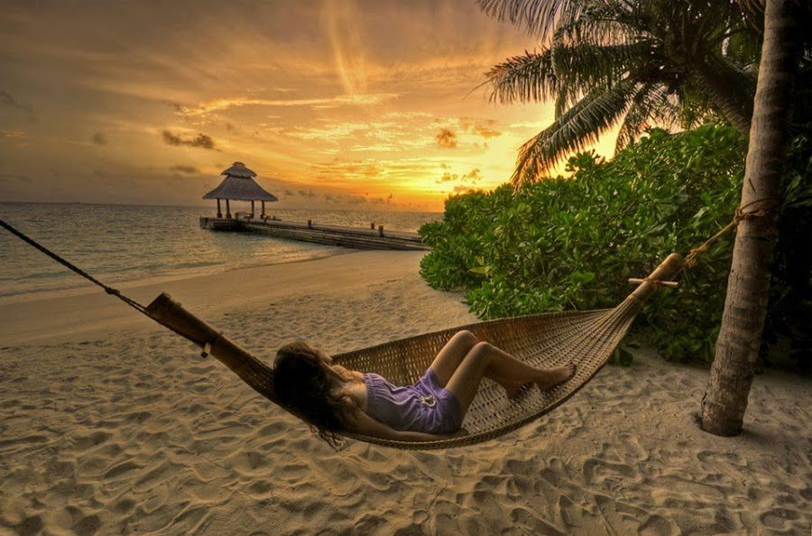 Femme - Hamac - Plage - Wallpapers - Free