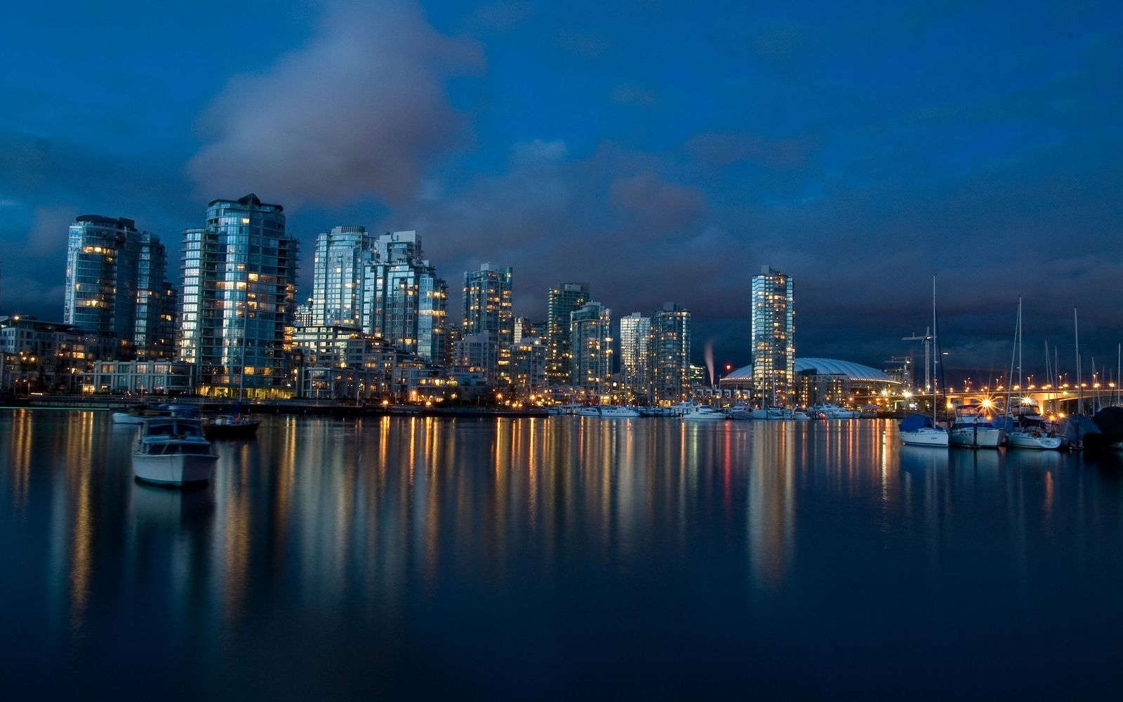 Ville - Vancouver - Nuit - Reflet - Wallpapers - HD
