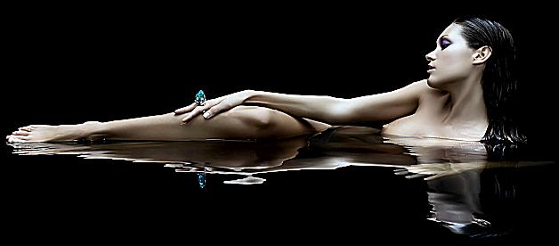 Femme - Brune - Reflet - Sexy - Render - Tube